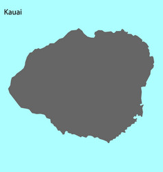 High quality map of island vector