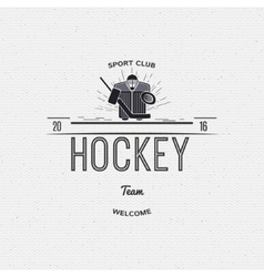Hockey team insignia and labels for any use vector image