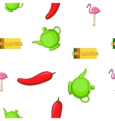 Holiday in Sri Lanka pattern cartoon style vector image