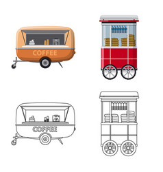 Isolated object of market and exterior icon set vector