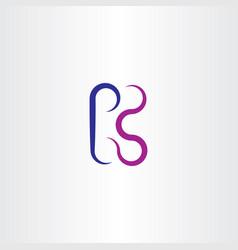 k logo blue purple icon letter vector image