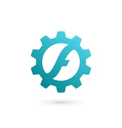 Letter f technology logo icon design template vector