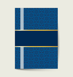 luxury cover design for brochure flyer banner vector image