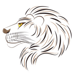 male lion head vector image