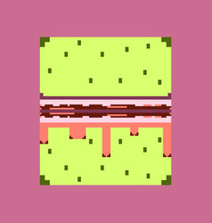 Pixel icon in flat style burger vector