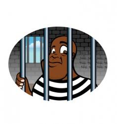 prisoner vector image