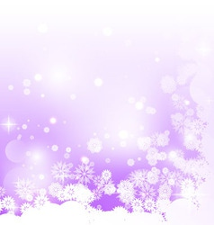 Purple background with snowflakes vector image