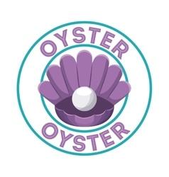 Purple oyster icon Sea life design vector