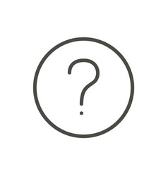 question icon line faq symbol vector image