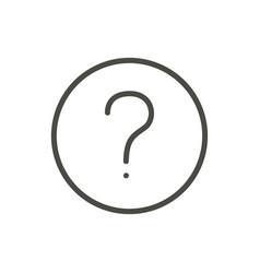 question icon line faq symbol vector image