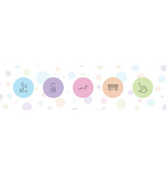 rest icons vector image
