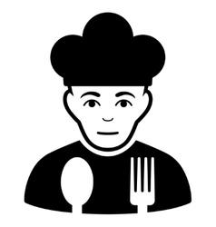 Sad Cook Flat Icon vector