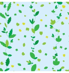 seamless texture with green leaves vector image
