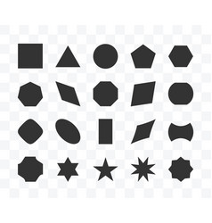 Set different shape geometric icon isolated vector