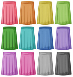 Set of different colour of skirt vector