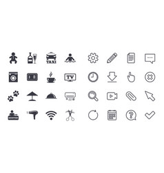 Set of hotel services and apartment icons vector
