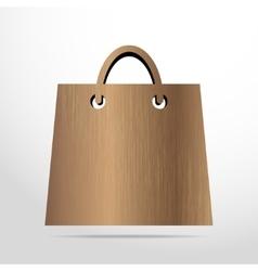 Shopping basket web wooden icon vector