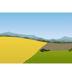 Spring mountain landscape vector