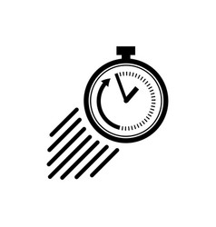 Stopwatch icon in flat style symbol of speed vector