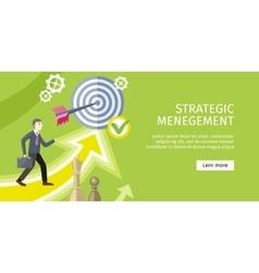 Strategic Management Concept vector image