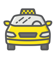 taxi car filled outline icon transport and auto vector image
