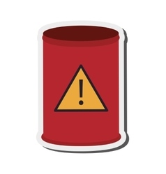 toxic waste barrel icon vector image