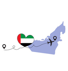 travel to uae airplane vector image