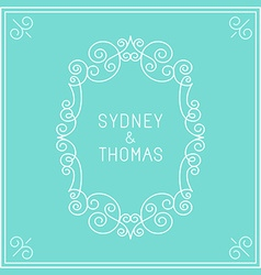 trendy linear frame with copy space for text vector image