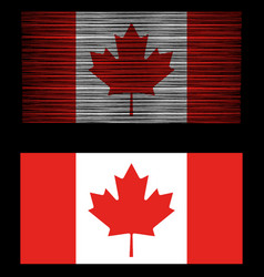 Vintage distressed retro canada flag patriotic vector