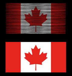 vintage distressed retro canada flag patriotic vector image