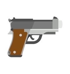 Weapon series vintage wild west army handgun vector image
