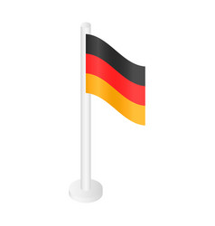 white desktop german flag icon isometric style vector image