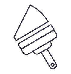 Window cleaning device line icon sign vector