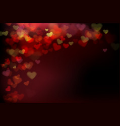 002 blur heart on dark abstract background vector image