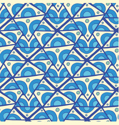 abstract triangle seamless pattern blue doodle vector image vector image