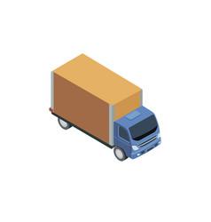 Big blue truck vector