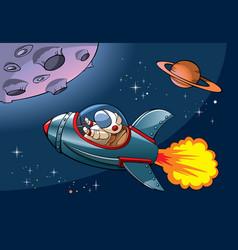 Cartoon spaceship vector image
