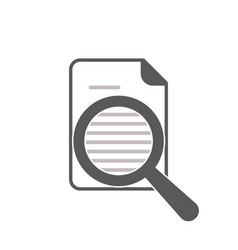 document and word magnifying glass icon vector image