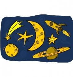 stars moon vector image vector image