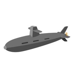 Submarine cartoon icon vector image
