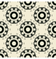 Tile Print Seamless of black stylized flowers or vector image