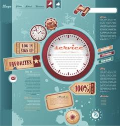 Vintage and retro web design elements vector image vector image