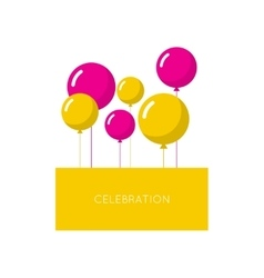 Abstract background with balloons vector image