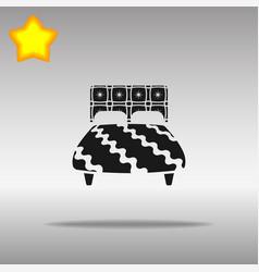 bed black icon button logo symbol concept vector image vector image