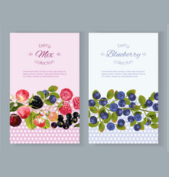 Berry vertical banners vector