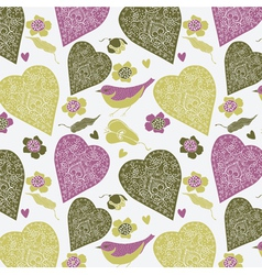 love heart bird vector image vector image