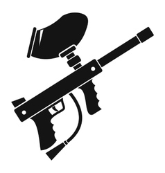 Paintball marker icon simple style vector image