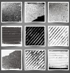 set of black and white grunge backgrounds vector image