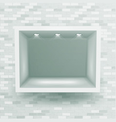 show window niche on brick wall clean vector image vector image