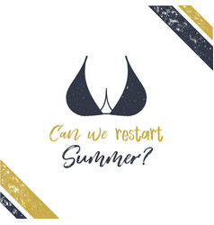 summer poster boobs vector image
